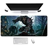 World of Warcraft Tappetino per XXL Mouse da Gioco - Gaming Mousepad Extra Grande 900 x 400mm - Pad 3mm con Base in Gomma Antiscivolo - Spessore 3mm Anime Tappetino Mouse,R