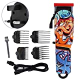 VSander Recargable En Color De Pelo Trimmer Pintada De La Manera del Pelo Eléctrico Clipper Inalámbrico Kit De Aseo Profesionales Hair Clippers Kit For Los Hombres (Color : UK)