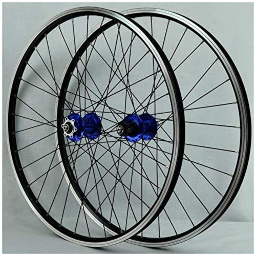 KZEE MTB Bike Wheelset 26 Inch, Double Wall Aluminum Alloy Disc/V Brake Bearings Hub Hybrid/Mountain Rim 7/8/9/10/11 Speed Wheels