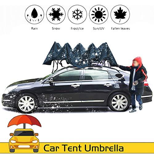 GJZhuan Autozelt Regenschirm Hagelschutz, Anti-UV Wasserdichtem Beweis Wind Schnee Bewegliche Carport Überdachung Schneeschutz Sturm Hagel Auto Regenschirm 3.8x2.4M