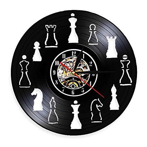 WJHXYD Pieza De Ajedrez Home Art Decor Club De Ajedrez Reloj De Pared Diseño De Interiores