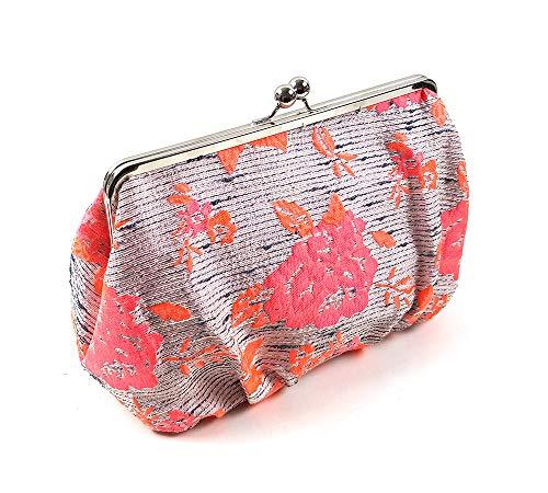 Kulturtasche Endless Summer HOT ORANGE im Vintage Stil mit Klippverschluss. Extra geräumiger Kulturbeutel für Ihre Urlaubsreise. Ideale Geschenkidee für Jede modebewusste Sonnenanbeterin.