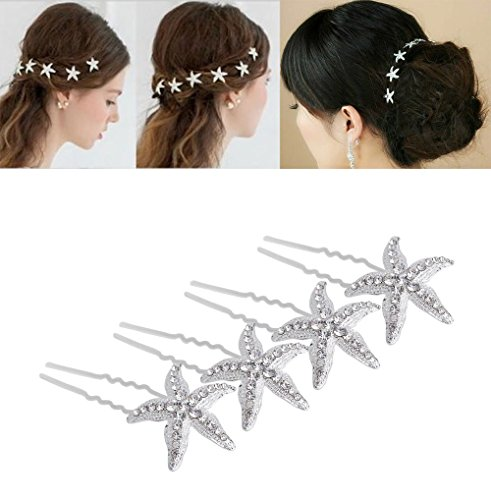 yueton Pack of 10 Bride Crystal Rhinestone...
