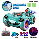 Remote Control Car 1/12 Scales RC Car 2WD Off Road Rock Crawler,2.4GHz Transform Truck with Fog Stream LED Lighting Modes,2 Batteries for 50+ Min Play,Toy Car for Kids 3-12 Years Old