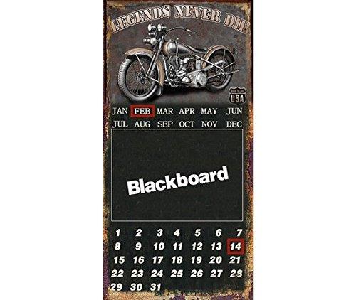 MAXIOCCASIONI Panneau déco Plaque Plaque en métal Tableau Noir Calendrier Noir