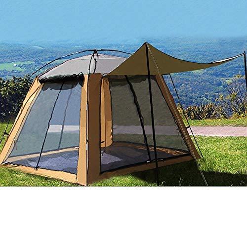 WJHNS Tragbares wasserdicht Camping Zelt Popup wasserdicht UV-Schutz丨Trekkingtour丨Outdoor丨Sport丨Reisen丨StrandUltraleichter Sonnenschutz (Gray)