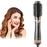 COSYLIFE Rotating Hair Dryer Brush,Upgrade 4 in 1 Hot Air Brushes for Hair