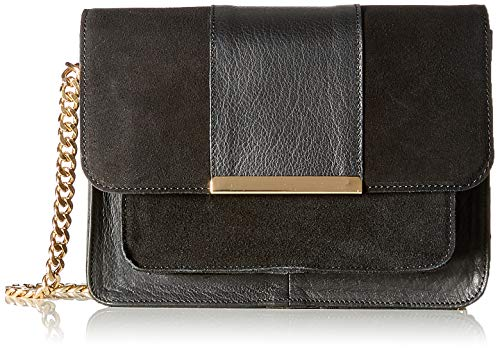 PIECES Damen PCMILIKA Leather Cross Body Tasche, Black, ONE Size