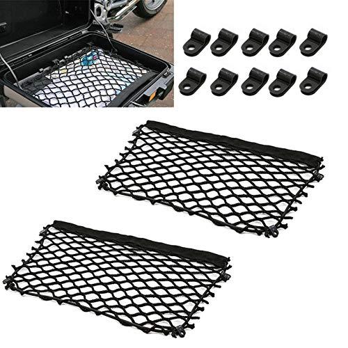 GIAOGIAO Bolsas de Paquete Cargo Mesh Net Ajuste para BMW F650GS F700GS F750GS F800GS R850GS R1200GS R1250GS Bolsas de Almacenamiento Red Vario Case DE Maletas DE Net (Color : 2 Nets)