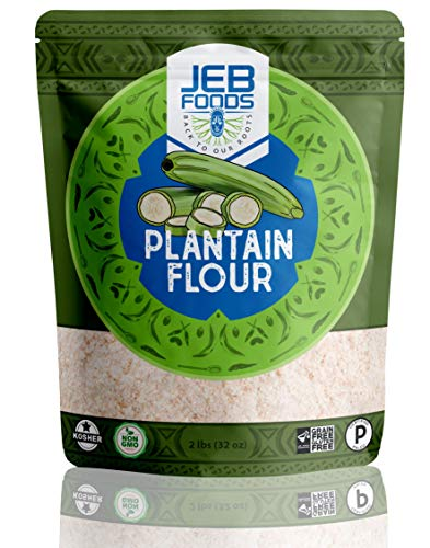 Plantain flour – 100% Pure Green Plantain Flour paleo diet, gluten free baking, (4lb/64oz)
