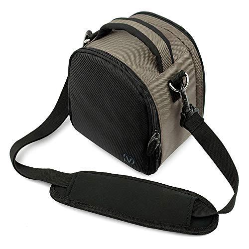Deluxe Digital SLR Camera Case Gadget Bag with Carry Handle for Nikon Coolpix L340 L330 L840 L830 L620 P550 P600 P610 1 S2 1 J4 D300 D300S D3200 D5500 D610 D7100 D800 D800E D90 DF
