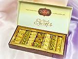 Surtido Dulces Orientales Baklava Pack de 250g | Variedad de 27 Piezas Pistachos y Anacardos con Dulce y Caramelo al estilo Jordano | Ideal Caja de Regalo de Bocaditos .