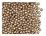 600 cuentas de cristal checas facetadas pulidas a fuego, redondas, 3 mm, bronce pálido dorado mate