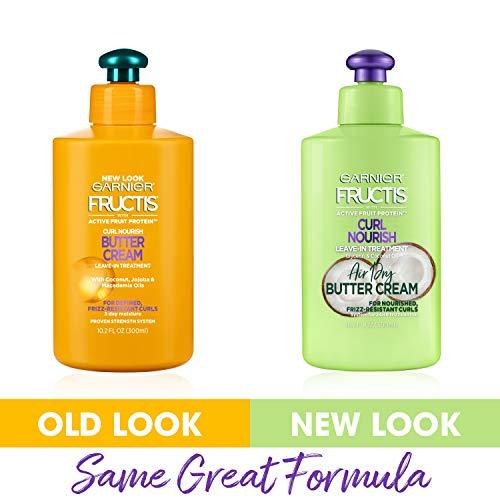 Garnier Hair Care Fructis Triple Nutrition Curl Moisture Leave-In Conditioner, 10.19 Fluid Ounce