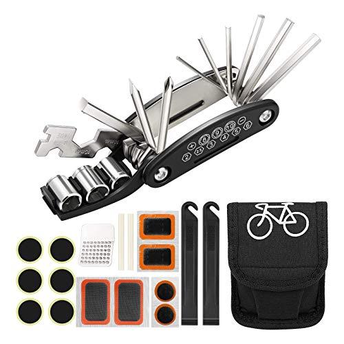 Herefun 6 Pezzi Leva per Pneumatici di Bicicletta Leva per Copertoni Bici del Metallo Ciclisti di Strada Kit Leve Riparazione Ruote per Moto Acciaio Inossidabile Leva per Biciclette