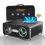 Proyector WiFi Bluetooth, 8500 Lúmenes YABER Proyector Soporte 4K Full HD 1080P Nativo Ajuste Digital 4P/4D Función de...