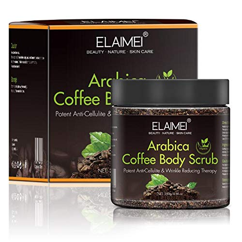 Exfoliante de café natural con exfoliante corporal orgánico de café,