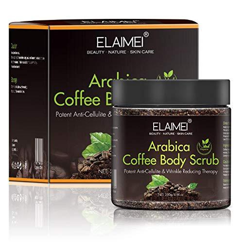 Natürliches Körperpeeling mit Bio-Kaffee, Peeling zum Peeling und Befeuchten der Haut, Tiefenreinigendes Körperpeeling für Dusche und Bad