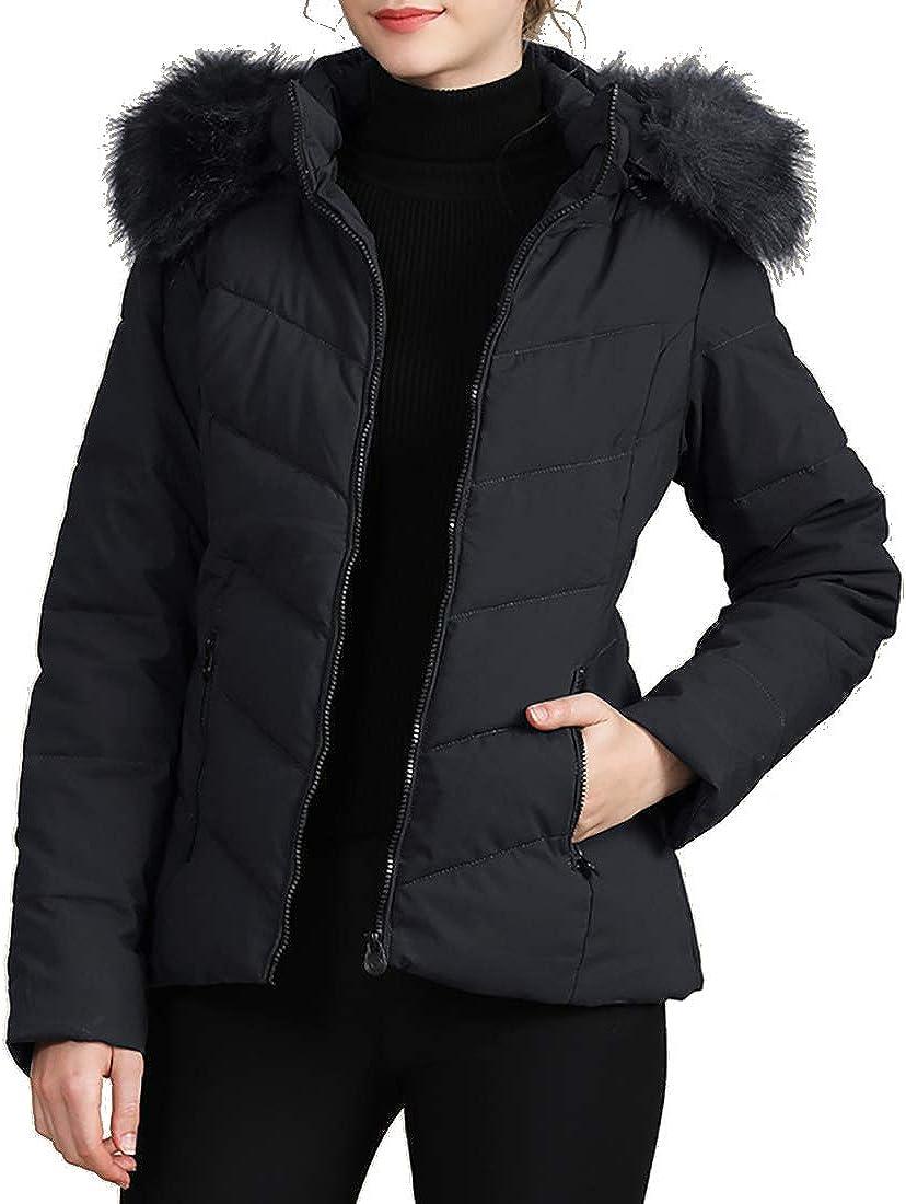 Inlefen Women Hooded Padded Jacket Warm Winterr Ladies Cotton Coat