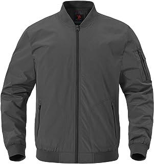 YSENTO Men's Lightweight Bomber Jacket Classic Windbreaker Flight Vintage Jacket Outwear with Zip Pockets