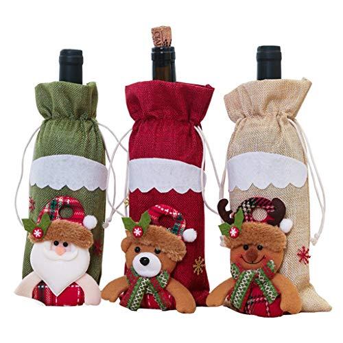 Weinflaschenabdeckungstüten, Weihnachtsgeschenke, Geschenkpapierersatz, Weinverpackung, Stoffmaterial, 1 Stück