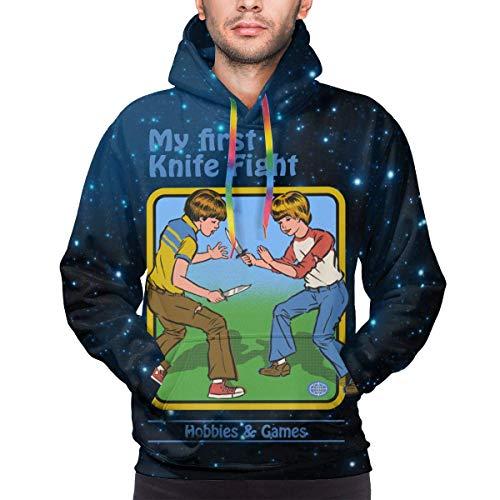 Private Eyes Mein erstes Messer Fight Langarm Hoodie Sweatshirt Pullover Lustige Tops für Männer
