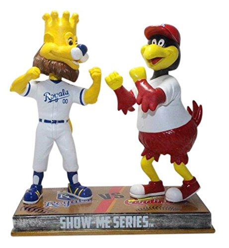 FOCO St. Louis Cardinals and Kansas City Royals - Show Me Series - Fredbird and Sluggerrr Rivalry Special Edition Bobblehead