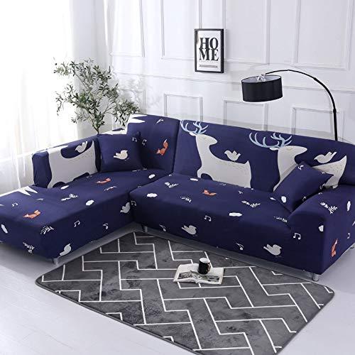 ASCV Funda de sofá con patrón geométrico para sofá seccional en Forma de L Funda de sofá Toalla de sofá Fundas de sofá para Sala de Estar A9 4 plazas