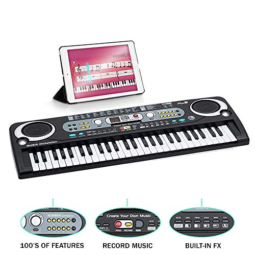 EM 54 Key Digital Piano Electronic Keyboard, Portable, Battery and Mains...