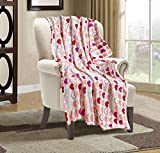 Valerian Luxury Velvet Super Soft Light Weight Blanket Prints Fleece Year Round Home Decor Fuzzy Warm and Cozy Throws, Couch and Gift, 50 x 60 inch, Isabella Heart