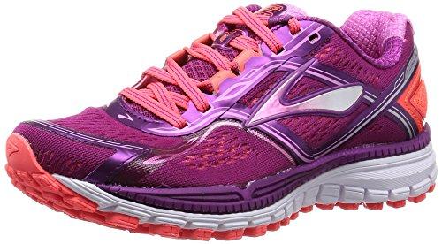 Brooks Ghost 8 W Scarpe da corsa, Donna, Viola (Purple (Phlox/Phloxpink/Fierycoral 580)), 38