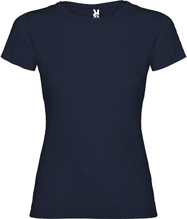 Camiseta Azul Marino para Mujer, Manga Corta, 100% algodón ...