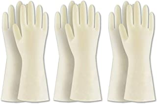 BOOMJOY 3 Pairs Cleaning Gloves, Nitrile Rubber Kitchen Gloves Heavy Duty for Cooking, Washing Kitchen, Bathroom, Car & Mo...