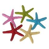 congchuaty 5 piezas de peces artificiales de estrella de mar para decoración de acuario, simulación de resina