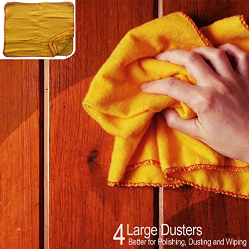 Schone producten (VK) 4x grote gele stofzuigers - voor stof, reiniging en polijsten - LEAVES NO RESIDUE