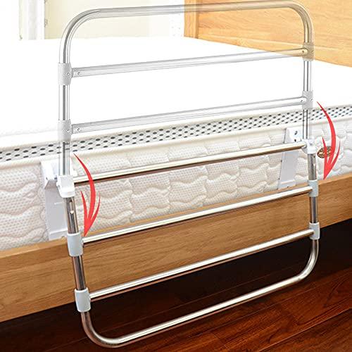 barra de protección de cama, pasamanos de ayuda de cabecera de adultos mayores de altura ajustable, barra de seguridad de protección médica plegable de 180 °, anticaída y ayuda para entrar y salir d