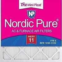 Nordic Pure 14x14x1M11MiniPleat-12 Mini Pleat MERV 11 AC Furnace Air Filters, 14-Inch x 14-Inch x 1-Inch, 12-Pack by Nordic Pure