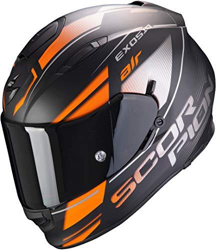 Preisvergleich Produktbild Scorpion Herren NC Motorrad Helm,  Schwarz / Orange / Grau,  XL