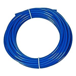 Vyair 10 mètres de tuyau de filtre d'alimentation en eau pour s'adapter aux réfrigérateurs doubles de style américain et européen (bleu) (tuyau 1/4