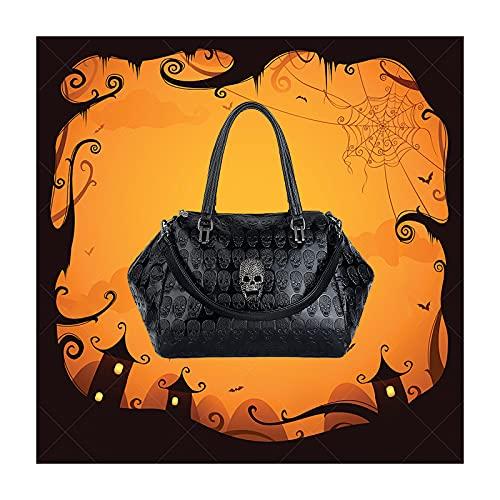 UTO Women Skull Tote Bag Large Capacity Handbag Smooth PU Leather Purse Shoulder B Bags