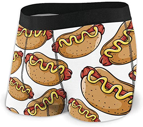 xianjing6 Herren Unterwäsche Boxershorts Hot Dog Men's Short Leg Performance Boxer Brief Comfort Flex Waistband Underwear