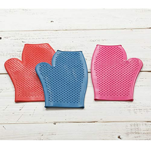 LINCOLN Unisex's mitt A Rubber Grooming Aid in The Form of A Mit for Ease of Use, Red, one size