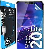 [2 Stück] 3D Schutzfolien kompatibel mit Huawei Mate 20 Lite - [Made in Germany - TÜV NORD] – HD Bildschirmschutz-Folie - Hüllenfre&lich – Transparent – kein Schutz-Glas - Panzer-Folie TPU