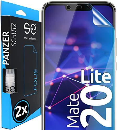 [2 Stück] 3D Schutzfolien kompatibel mit Huawei Mate 20 Lite - [Made in Germany - TÜV NORD] – HD Displayschutz-Folie - Hüllenfreundlich – Transparent – kein Schutz-Glas - Panzer-Folie TPU