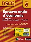 Épreuve orale d'économie se déroulant partiellement en anglais