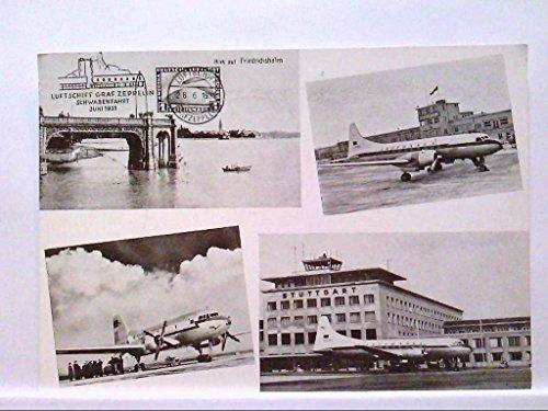 AK Oberndorf/Neckar, Einladungskarte Oberndorf 1. Briefmarken-Ausstellung anno 1959, Mehrbild, 4 Abb., diverse Flugzeuge, Nr.377, Sonderstempel, Ungelaufen.