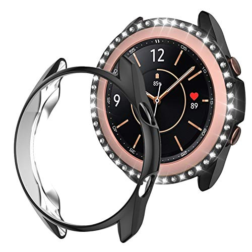 Haojavo Compatible with Samsung Gear S3/Galaxy Watch 46mm Case, Soft TPU Slim Shock-Proof Cover All-Around Protective Bumper Shell for Samsung Galaxy Watch 46mm Smartwatch Bands Accessories