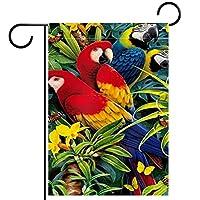 庭の装飾の屋外の印の庭の旗の飾り熱帯オウムコンゴウイン蝶野生動物ジャングル テラスの鉢植えのデッキのため