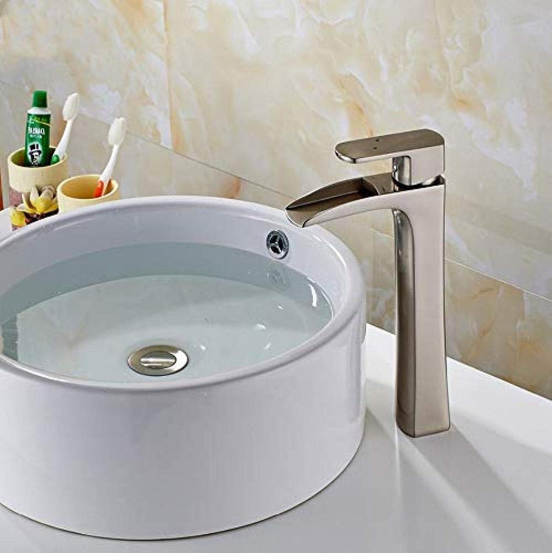 Wasserhahn-Hot And Cold Basin Waschbecken Wasserhahn Waschbecken Waschbecken Waschbecken Waschbecken Einlochmontage Einlochmontage Wasserfall Wasserhahn