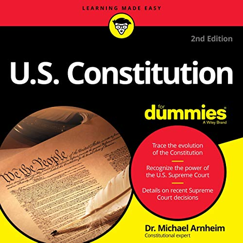 U.S. Constitution for Dummies Audiobook By Dr. Michael Arnheim cover art